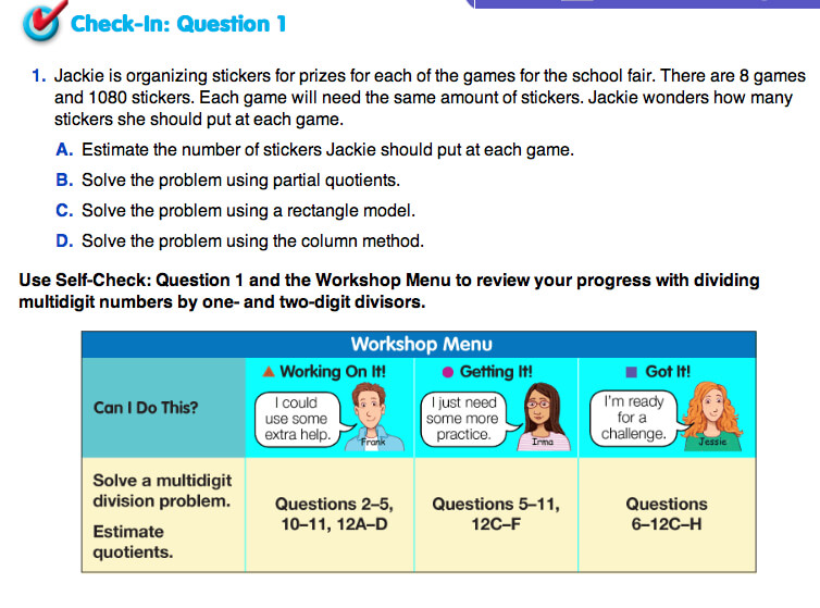 Check-In Questions and  Differentiated Practice