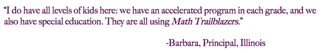 Diverse Learners Use Math Trailblazers