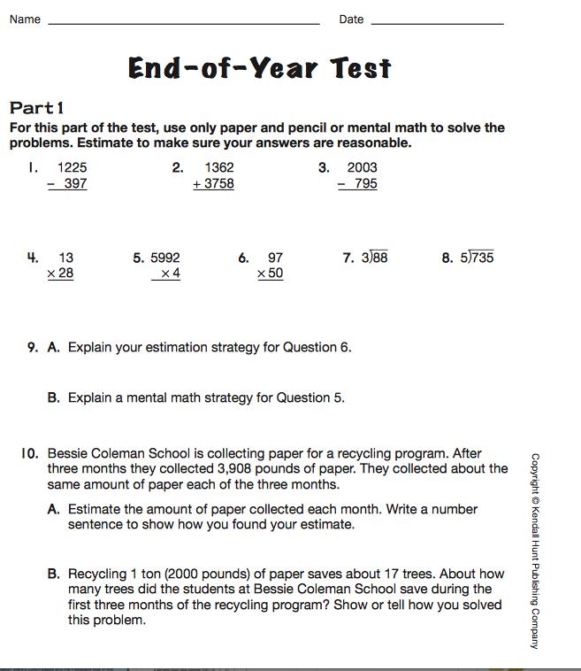 Evaluating Mtb4 Math Trailblazers