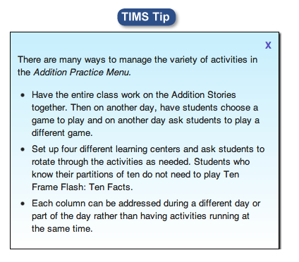 Classroom Management Tips in TIMS Tip