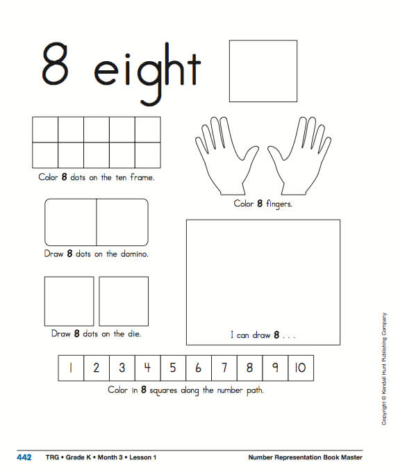 Number Representation in Kindergarten