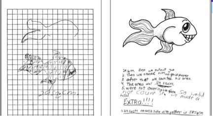 Sample Student's Geometric Measurement  Work from Grade 3's Joe the Goldfish