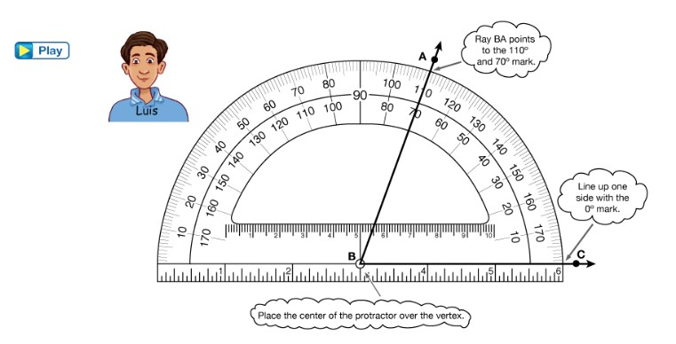 Using a Protractor to Measure Angles in Grade 4
